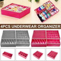 Underwear Storage Organizer Wardrobe Drawer Organizer Foldable