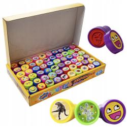 Stämplar-kit för barn 60 st - självfärgande stämplar