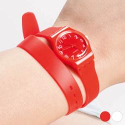 Unisex-klocka med extra långt armband 143969 Vit