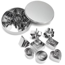24 Set Flower Round Decorating Stainless Steel Cake Mold One size