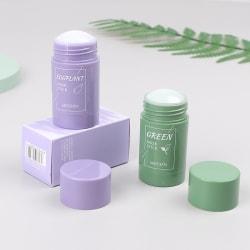 2st grönt te aubergineoljekontroll ren fuktgivande fast sm