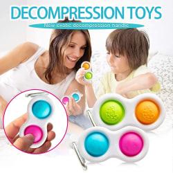 Pop It-Finger chain Sensoriskt stressspel Barn vuxen leksak,gåva Green-Blue