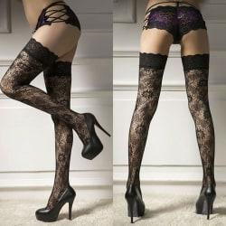 Sexiga underkläder Kvinnor Strumpor Lace Sheer Top Lår Highs
