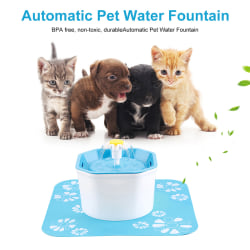 1.6L Automatic Dog Cat Electric Water Fountain USB Pet Bowl Drin