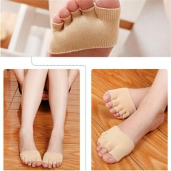 1 Pair Sweat Absorb Invisible Soft Foot Care Unisex Forefoot Nur Nude 9*6cm