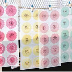 1 PC Washi Paper lace Roll DIY Decorative Sticky Masking Tape SE