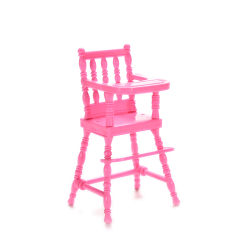 1 Pcs Cute Doll High Chair Plastic Play Doll House Toy Furniture