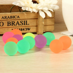 10 Pcs 32mm Luminous High Bounce Ball Glow in the Dark Noctiluce