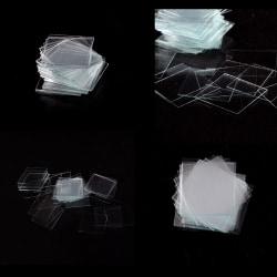 100 pcs Glass Micro Cover Slips 22x22mm - Microscope Slide Cove 0 0