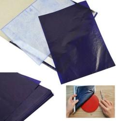 100 ark A5 mörkblå kolhandstencilöverföringspapper Hect one size