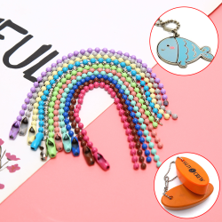 10Pcs/Set Colorful 2.4MM Ball Bead Chain Connector Jewelry DIY M Rose red