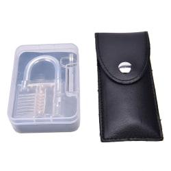 12-Piece Unlocking Lock Pick Set Key Extractor Tool + Transparen