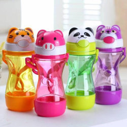 1Pc Cute baby kids straw cup drink water juice cup bottles child One Size