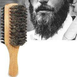 1X Mens Boar Bristle Hair Brush Wooden Curly Wave Brush Styling  S