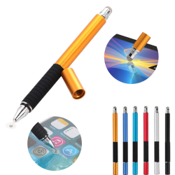 2 in 1 Capacitive Fine Point Round Thin Tip Touch Screen Stylus Black One Size
