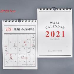2021 Minimalism Plan Book Mini Wall Calendar DIY Portable Desk C A