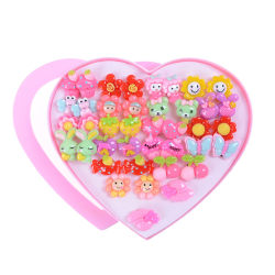 20Pairs Cute Clip-On No Pierced Earrings For Kids Child Girls Ch 0 0