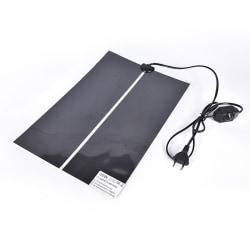 20W Heat Mat Reptile Brooder IncubatorHeating Pad Warm Heater Pe Black 16.54inch×11.02inch