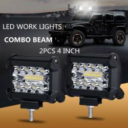 2pcs 4inch 200w 12v led work light bar pods flush mount combo dr Onesize