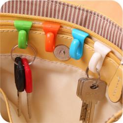 2PCS Plastic Hangers Key Ring Chain Holder Hook Handbag Shoulde