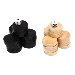 32Pcs Draughts/Checkers/Backgammon Chess Piece for Kids Board G one size