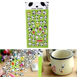 3D DIY Söt Panda Diary Album Scrapbooking Memo Pad Bubble Stic