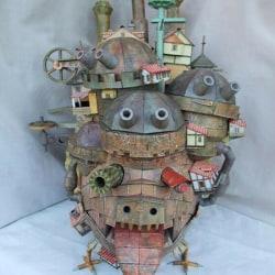 3D DIY Paper Model Kit Howl's Moving Castle Land Version Handcra One Size