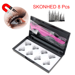 3D Magnetic Eyelashes Invisible Mink Lashes Thick Full Strip Fal onesize