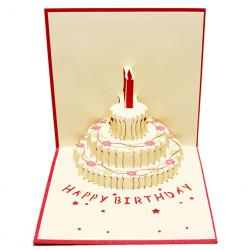 3D pop-up gratulationskort handgjorda födelsedag påsk Valentin