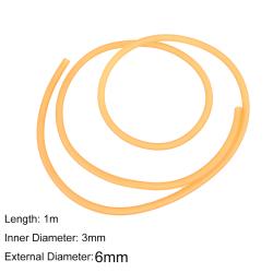 3mm x 6mm Natural Latex Slingshots Rubber Tube 1m For Slingshot  yellow 1m