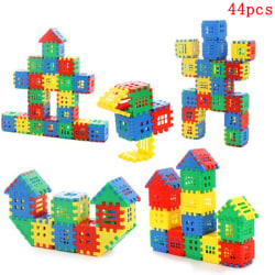 44pcs baby house spelling puzzle block City DIY model figures ed One Size