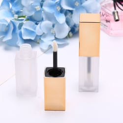 4ml Gold Lip Gloss Tubes Mini Lipstick Refillable Empty Lipgloss Gold
