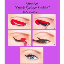4x Perfect Eyeliner Stencil Models Template Shaper Bottom Liner  Pink One Size