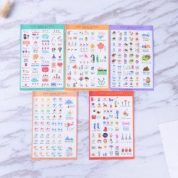 5 Sheets Cute Paper Stickers For DIY Po Album Scrapbook Calendar