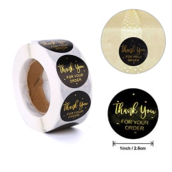 500pcs Round Thank You for Your Order Stickers Seal Labels Hand 500pcs/reel