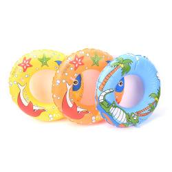 50cm Kids PVC Cartoon Printing Inflatable Float Swimming Ring Co random color 50cm