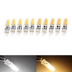5pcs Dimmable COB G4 6W EPISTAR AC 12V LED Light Bulb Replace Ha white