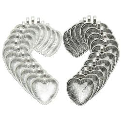 60st hjärta hängande brickor ljusglas cabochon för foto DIY J