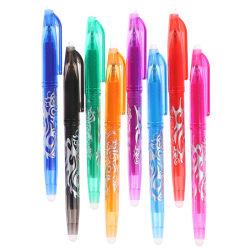 8 färger 0,5 mm raderbar penna gel penna skola kontor skriva suppl Black