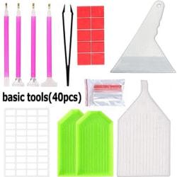 A4 / A5 LED-ljusskiva Diamantmålningsverktygssatser 28/56 Raster D basic tools only