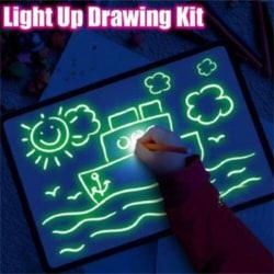 A5 Draw With Light Fun And Developing Drawing Board Kids Educati English A5(2)