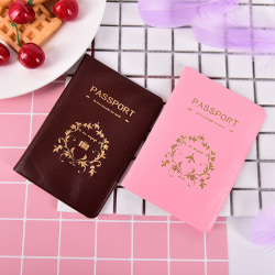 Best Travel Utility Simple Passport ID Card Cover Holder Case Pr Pink