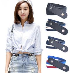 Buckle Free Belt for Jean Pants Dresses No Buckle Stretch Elast