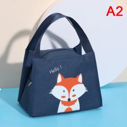 Cartoon Cute Lunch Bag For Women Girl Kids Children Thermal Insu Navy
