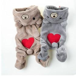 Chihuahua Teddy Dog Puppy Pet Jumpsuit Pajamas Warm Jacket Coat