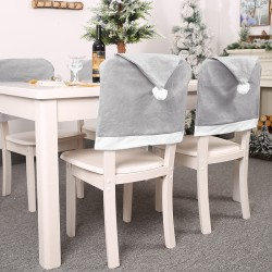 Christmas Hat Chair Covers Xmas Table Dinner Chair Back Covers  one size