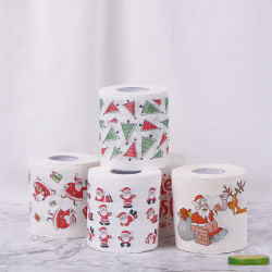Christmas Table Napkin Home Santa Claus Bath Toilet Roll Paper X Christmas letters