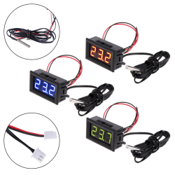 Digital 12V temperature monitoring thermometer meter w/ temp pro Blue