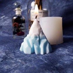 DIY Scented Candle Mold Iceberg Shape Handmade Aromatherapy Sili White