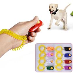 Dog Training Clicker Click Button Trainer Pet Cat Puppy Obedienc Black